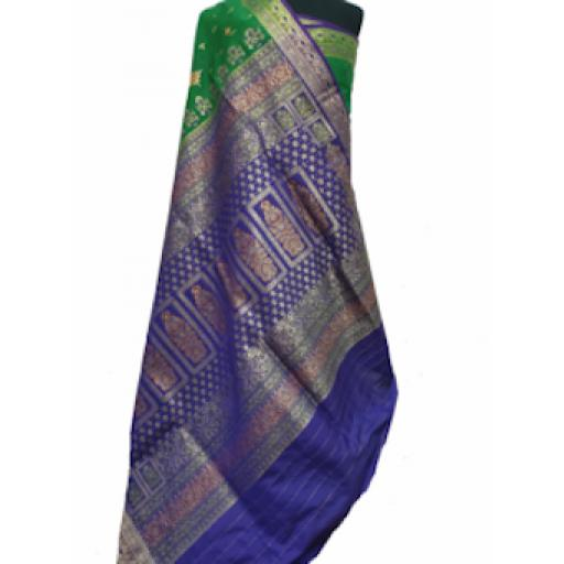 Purple And Green Sari