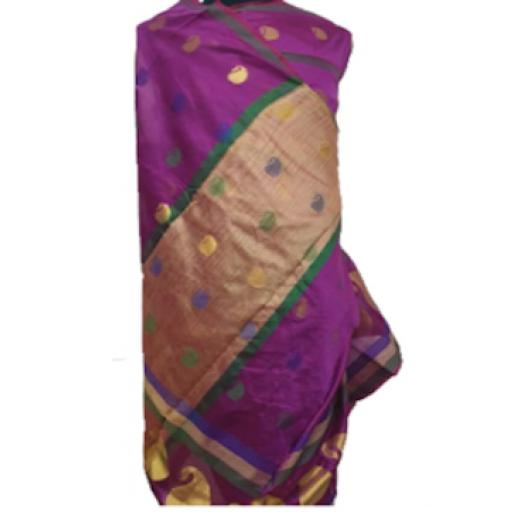 Purple Gold Sari