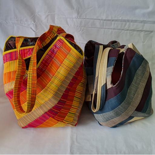 Square Stripey Bag