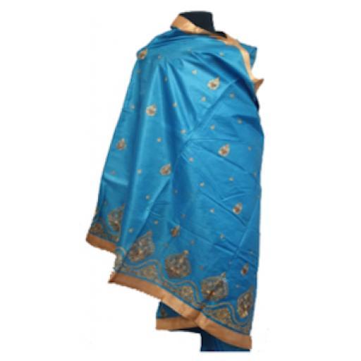 Ocean Blue Sari