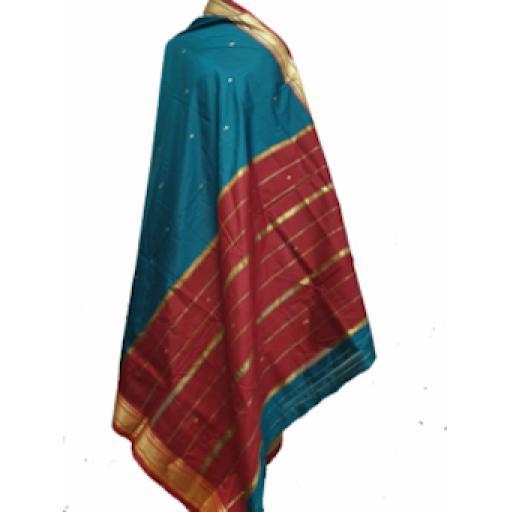 Red Green Sari