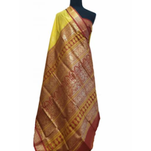 Banana and Brown Sari