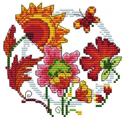Cross Stitch Kits Floral