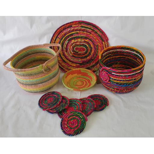 Fabric Rope Bowl and Mat Pattern