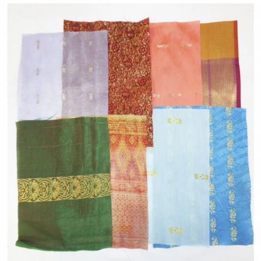 Recycled Sari Squares